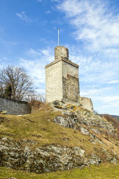 Stock photo:  old Falkenstein castle under clear blue sky