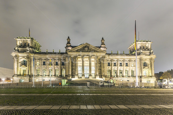 reichstag or bundestag building in Berlin, Germany, at night  Stock photo © meinzahn