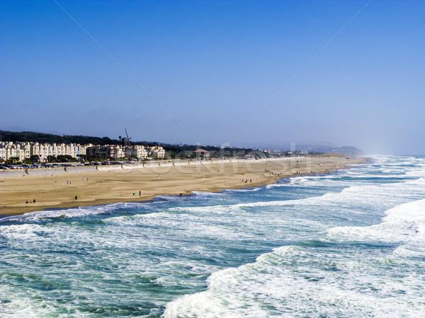 Ludzi cieszyć się ocean plaży San Francisco USA Zdjęcia stock © meinzahn
