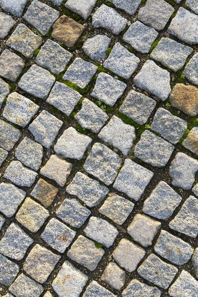 cobble stones Brick walkways background in red and grey Stock photo © meinzahn
