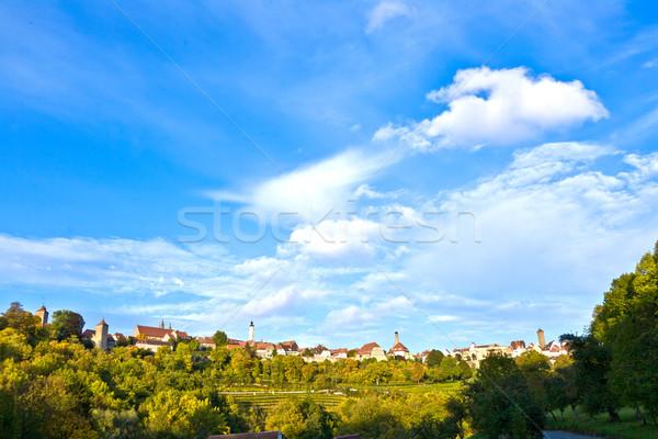 старые известный город средневековых романтические долины Сток-фото © meinzahn