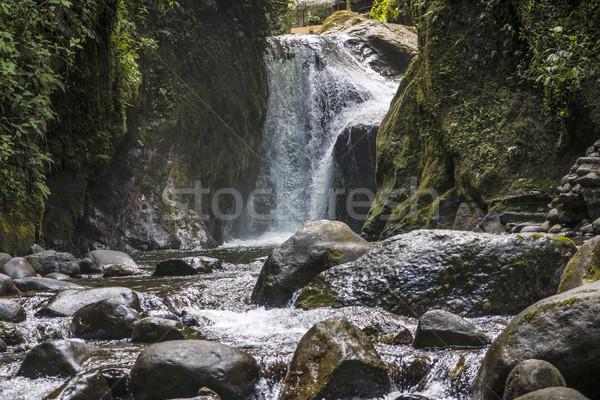 Cascada selva tropical Ecuador escénico paisaje belleza Foto stock © meinzahn