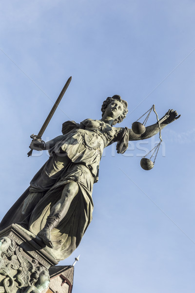 lady justice  under blue sky Stock photo © meinzahn
