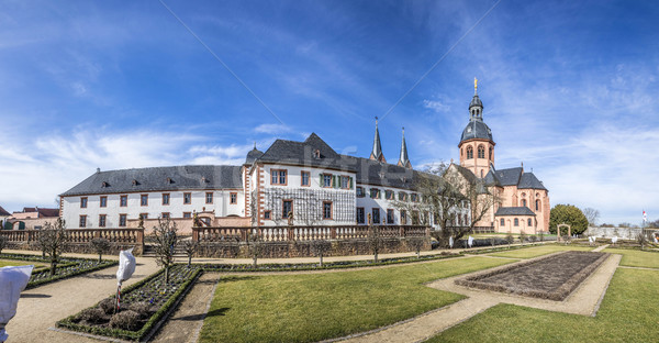 famous benedictine cloister in Seligenstadt, Germany Stock photo © meinzahn