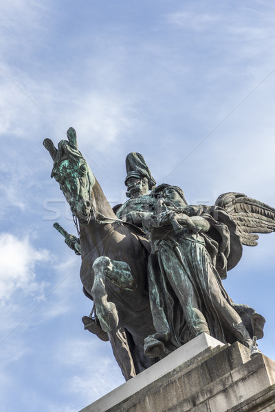 equestrian statue of German Emperor William I in German Corner i Stock photo © meinzahn