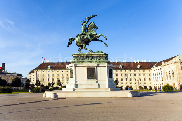 Stock photo: horse and rider statue of archduke Karl in vienna