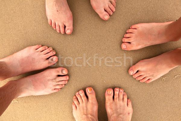 family at beach Stock photo © meinzahn