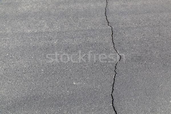 street in detail with cracked asphalt Stock photo © meinzahn