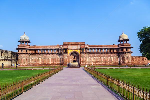 Piros erőd India unesco világ örökség Stock fotó © meinzahn