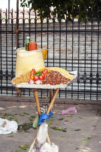 Piac elad távolkeleti hozzávalók utca ázsiai Stock fotó © meinzahn