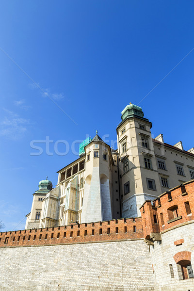Királyi kastély Krakkó Lengyelország épület fal Stock fotó © meinzahn