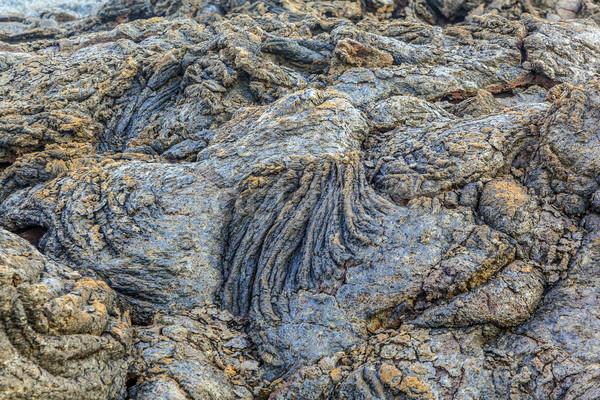 Stones of volcanic flow  Stock photo © meinzahn