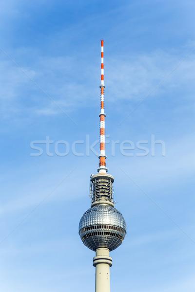 The Fernsehturm (TV Tower) in Berlin, Germany  Stock photo © meinzahn