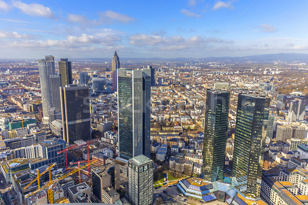 aerial of the financial district in Frankfurt  Stock photo © meinzahn