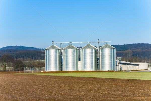beautiful landscape with silo and acre Stock photo © meinzahn