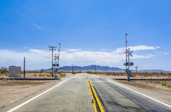 railway crossing on Route 95  Stock photo © meinzahn