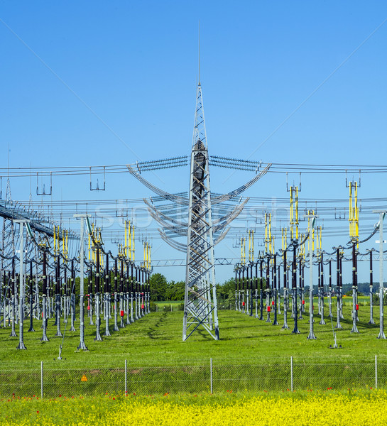 electrical power plant in  colorful meadow  Stock photo © meinzahn
