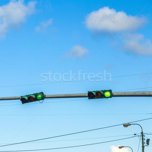 Traffico regolazione america semafori auto nubi Foto d'archivio © meinzahn
