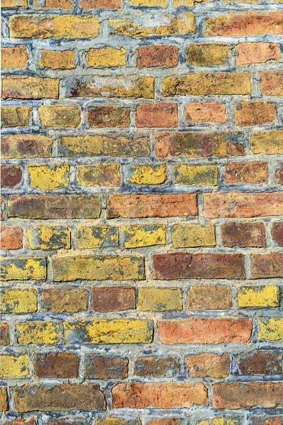 Téglafal textúra öreg fal festék háttér Stock fotó © meinzahn
