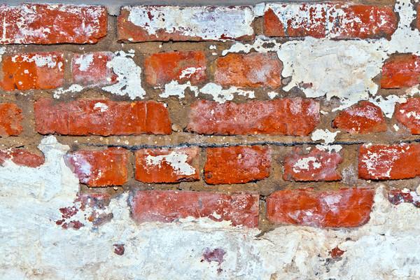 старые кирпичная стена погреб красный стены свет Сток-фото © meinzahn