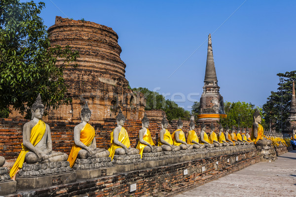 Buda templo Bangkok Tailândia viajar pedra Foto stock © meinzahn