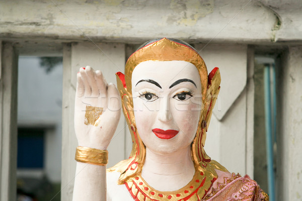 Pace segno tempio Bangkok amici dio Foto d'archivio © meinzahn