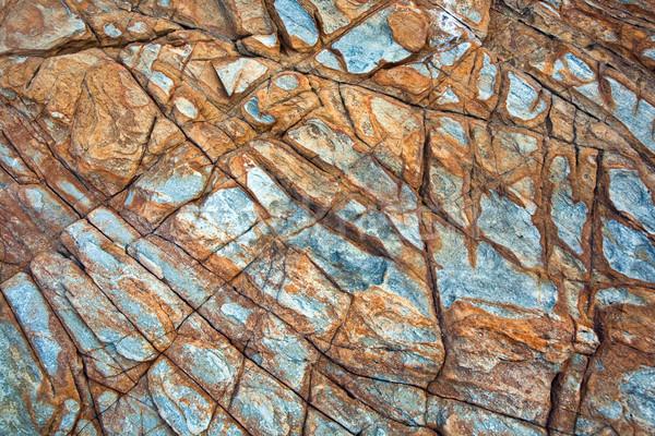 Mooie stenen rotsen zonlicht harmonisch structuur Stockfoto © meinzahn