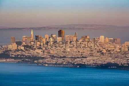 skyline of San Francisco with golden gate bridge  Stock photo © meinzahn