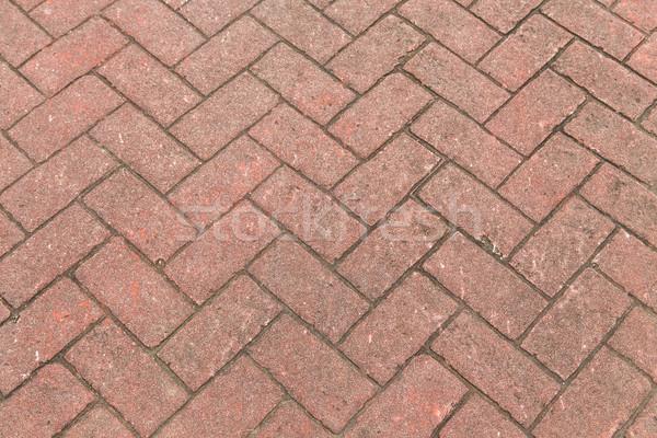 Rood bakstenen harmonisch patroon vloer Stockfoto © meinzahn