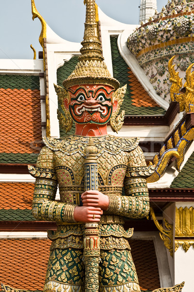 Dämon as Guard (Dschaks) in the Grand Palace in Bangkok Stock photo © meinzahn