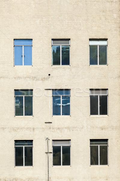Gökdelen ofis duvar soyut ev Stok fotoğraf © meinzahn