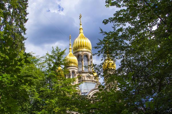Сток-фото: известный · русский · православный · Церкви · дома