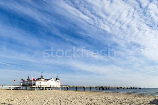 Pier praia mar báltico ilha céu arquitetura Foto stock © meinzahn
