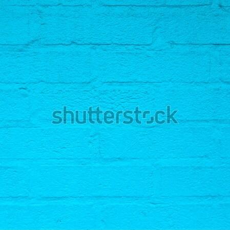 Azul harmônico parede de tijolos américa casa parede Foto stock © meinzahn