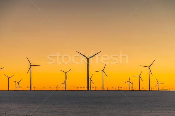 風 日没 多くの 太陽 自然 風景 ストックフォト © meinzahn