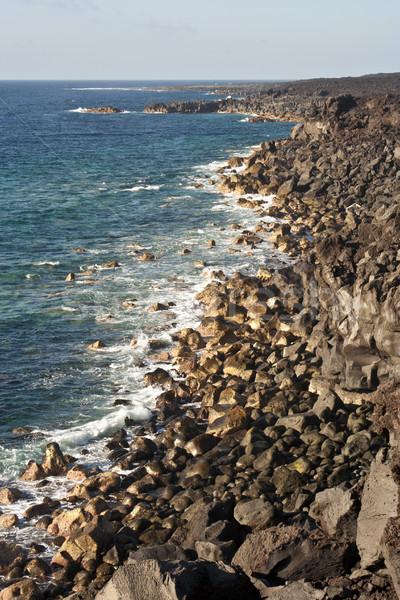 vulcanic coastline in Lanzarote Stock photo © meinzahn