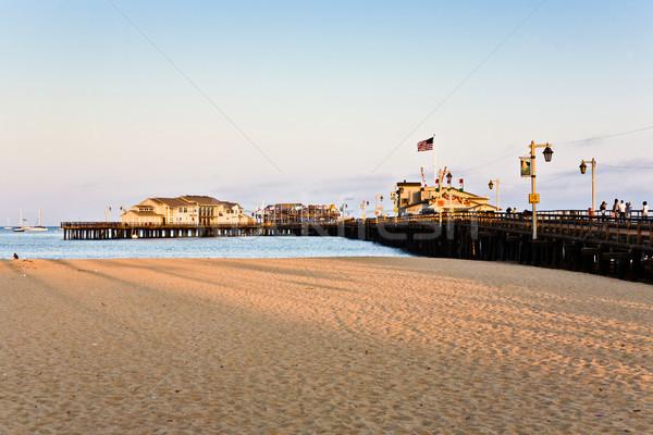 scenic pier in Santa Barbara Stock photo © meinzahn