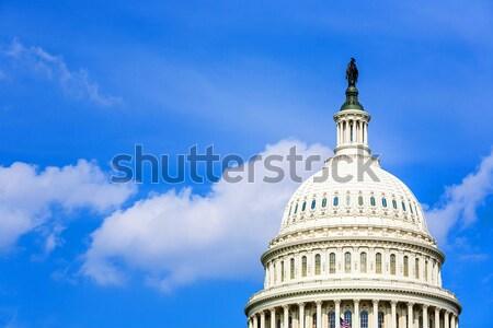 Foto stock: Washington · DC · escritório · casa · cidade · azul · retrato