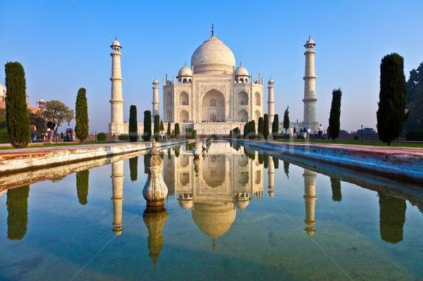Photo stock: Taj · Mahal · Inde · bleu · sunrise · architecture · marbre