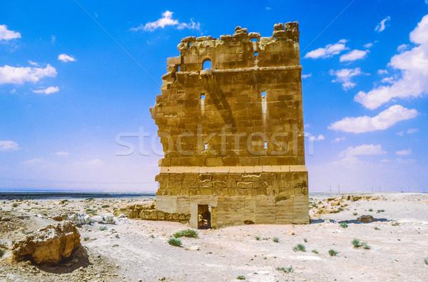 Oude Romeinse tijd stad Syrië muur Stockfoto © meinzahn