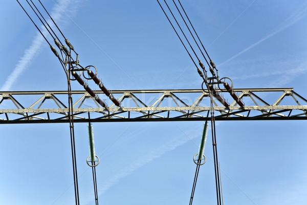 Elektomos elektromos erőmű égbolt gyönyörű tájkép építkezés Stock fotó © meinzahn