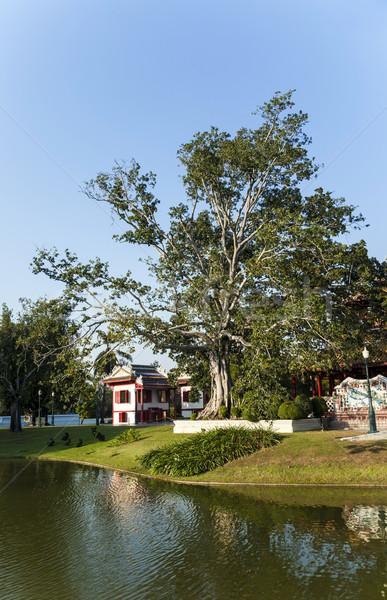 Güzel binalar park patlama kral Tayland Stok fotoğraf © meinzahn
