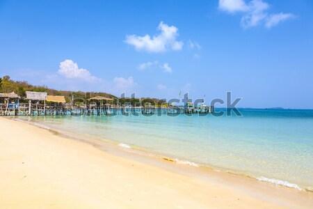 Bella tropicali vuota spiaggia spiaggia tropicale vecchio Foto d'archivio © meinzahn