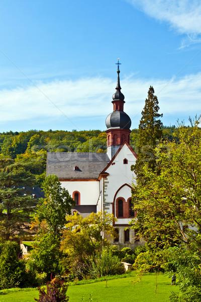 Oude kapel landschap kerk Blauw gebouwen Stockfoto © meinzahn