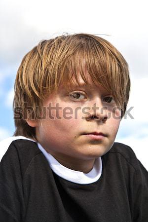 Jongen stropdas business hand man Stockfoto © meinzahn