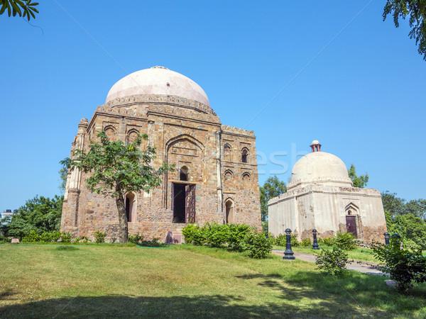 Sír kert Delhi művészet festmény Ázsia Stock fotó © meinzahn