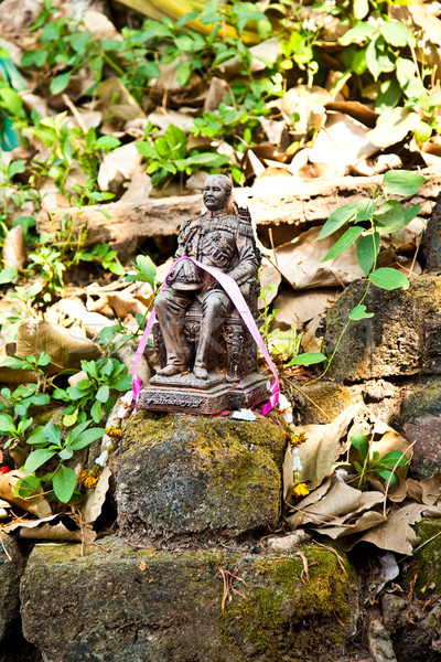 monastery Wat Na Phramane in Ajutthaya with famous gold buddha a Stock photo © meinzahn
