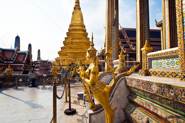 a kinaree, a mythology figure, in the Grand Palace in Bangkok  Stock photo © meinzahn