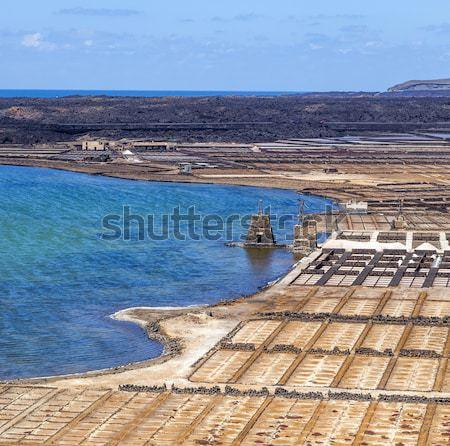 Salt refinery, Saline from Janubio Stock photo © meinzahn