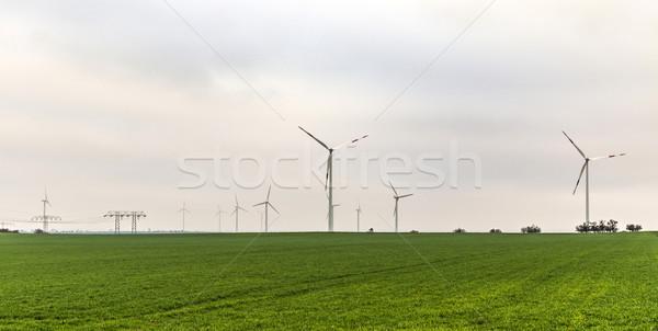 風 エネルギー 地平線 パノラマ 天気 ストックフォト © meinzahn